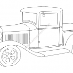car old 1932 ford pickup file cdr and dxf free vector download for printers or laser engraving machines