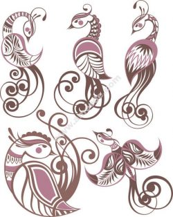 phoenix pattern file .cdr and .dxf free vector download for printers or laser engraving machines