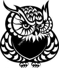 cat-owl pattern file .cdr and .dxf free vector download for Laser cut plasma