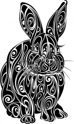 rabbit flower pattern file .cdr and .dxf free vector download for Laser cut plasma