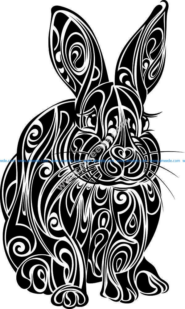 rabbit flower pattern
