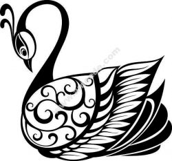 swans swam by the lake file .cdr and .dxf free vector download for Laser cut plasma
