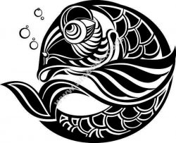 carp pattern file .cdr and .dxf free vector download for Laser cut plasma