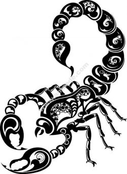 Scorpion pattern flowers file .cdr and .dxf free vector download for Laser cut plasma