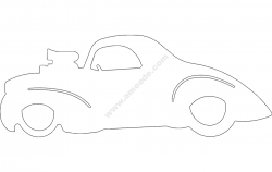 40 Willys 2 car file cdr and dxf free vector download for Laser cut Plasma file Decal