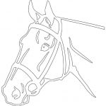 Horse Head Detailed Silhouette file cdr and dxf free vector download for printers or laser engraving machines