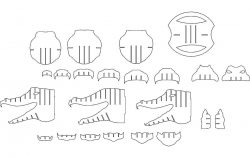 Alligator file cdr and dxf free vector download for Laser cut CNC