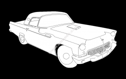 55 T bird K car file cdr and dxf free vector download for printers or laser