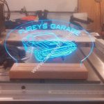 Furrys Garage Challenger oto 3d illusion lamp file .cdr and .dxf free vector download for Laser cut plasma