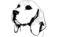 beagle dog reck file cdr and dxf free vector download for printers or laser engraving machines