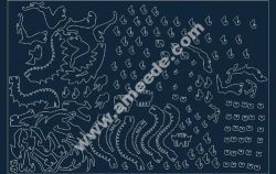 Dragon 3D Puzzle file .cdr and .dxf free vector download for Laser cut CNC