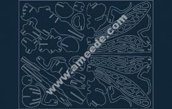 Dragon fly file .cdr and .dxf free vector download for Laser cut CNC