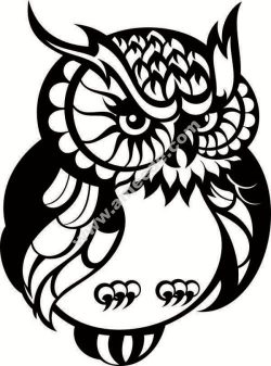 bird owl cat tree twig file .cdr and .dxf free vector download for Laser cut plasma