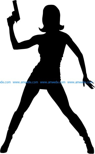Agent Girl file .cdr and .dxf free vector download for Laser cut plasma