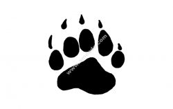 BEAR PAW file cdr and dxf free vector download for printers or laser engraving machines