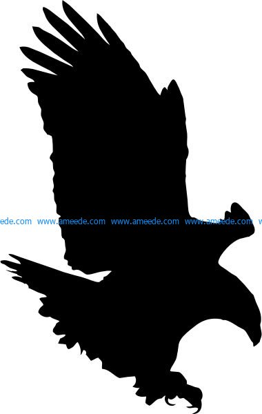 Bald Eagle file .cdr and .dxf free vector download for Laser cut plasma