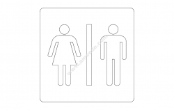 Bathroom sign file cdr and dxf free vector download for printers or laser