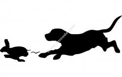 Beagle Rabbit Outline dog  file cdr and dxf free vector download for Laser cut plasma