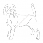 Beagle good dog file cdr and dxf free vector download for printers or laser engraving machines