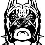 Boxer dog head black white  file cdr and dxf free vector download for printers or laser