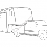 Camping Trailer car file cdr and dxf free vector download for printers or laser engraving machines