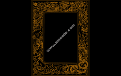 Celtic Clip Art Frame file .cdr and .dxf free vector download for Laser cut CNC