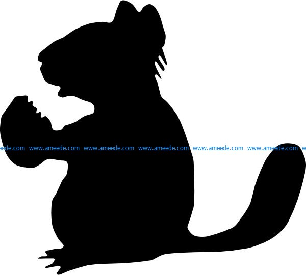 Chipmunk file .cdr and .dxf free vector download for Laser cut plasma