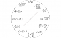 Clock Math file cdr and dxf free vector download for Laser cut plasma