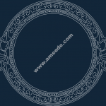 Cool Circle frame file .cdr and .dxf free vector download for Laser cut CNC