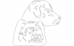 Dog and Ducks file cdr and dxf free vector download for printers or laser engraving machines