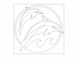 Dolphins file cdr and dxf free vector download for Laser cut plasma