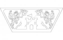 Dragon Side file cdr and dxf free vector download for printers or laser engraving machines