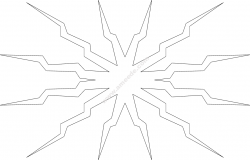 Explosion file .cdr and .dxf free vector download for Laser cut plasma