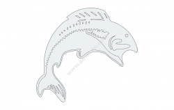 Fish Jump file cdr and dxf free vector download for Laser cut plasma