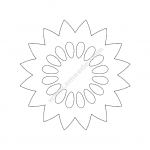 Flower design file .cdr and .dxf free vector download for Laser cut plasma