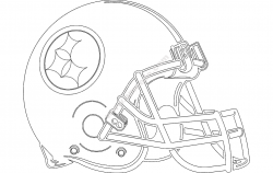 Football Helmet Silhouette file cdr and dxf free vector download for printers or laser engraving machines