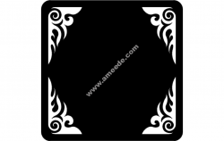 Frame asd file cdr and dxf free vector download for Laser cut plasma