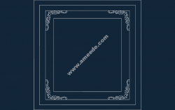 Frame file .cdr and .dxf free vector download for Laser cut CNC