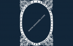 Frame Fancy file .cdr and .dxf free vector download for Laser cut CNC