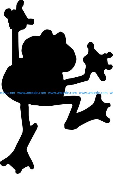 Frog file  cdr and  dxf free vector download for Laser cut