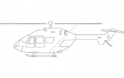 Helicopter Silhouette file cdr and dxf free vector download for Laser cut plasma file decal