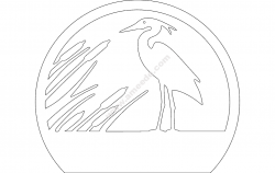 Heron file cdr and dxf free vector download for Laser cut plasma