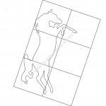 Horse Inside Frame file cdr and dxf free vector download for Laser cut plasma file decal