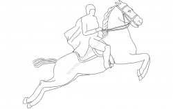 Horse Jumping file cdr and dxf free vector download for printers or laser engraving machines
