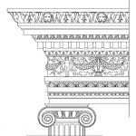 Ionic order – ancient greek architectural orders file cdr and dxf free vector download for printers or laser engraving machines