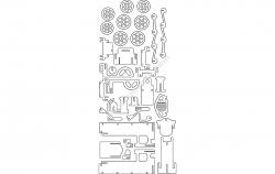 LOKOMOTIV 1.5mm file cdr and dxf free vector download for Laser cut CNC