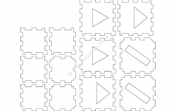 Laser Cube 2 Layer Basic file cdr and dxf free vector download for Laser cut CNC