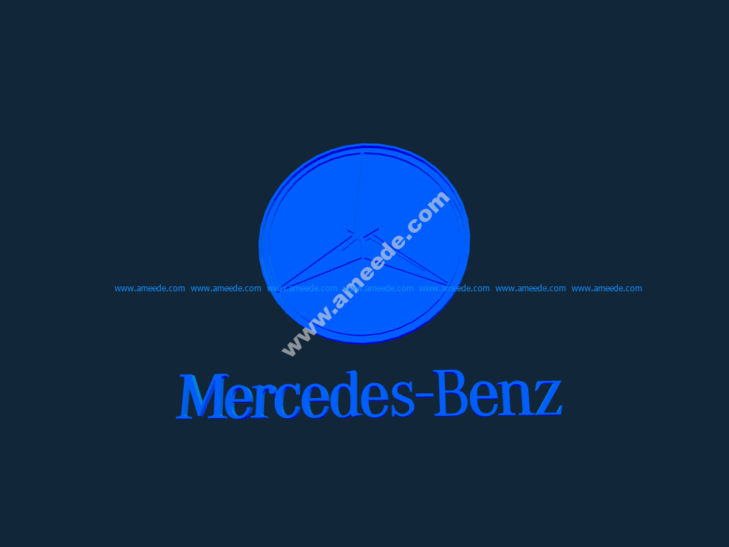 Mercedes benz logo stl