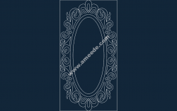 Mirror Frame file .cdr and .dxf free vector download for Laser cut CNC