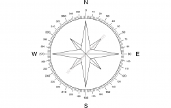North Arrow Compass file cdr and dxf free vector download for printers or laser